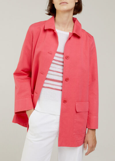 ROSSO 35 - N1402A - Garment-Dyed Shirt Jacket - 001