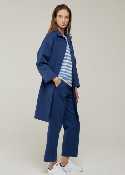 ROSSO 35 - N1403A - Garment-Dyed Oversized Coat - 001