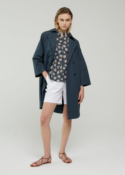ROSSO 35 - S5966A - Oversized Double-Breast Trench Coat - 001
