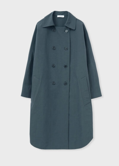 ROSSO 35 - S5966A - Oversized Double-Breast Trench Coat - 002
