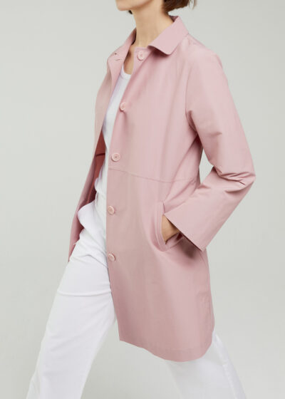 ROSSO 35 - S5967A - Single-Breasted Trench Coat - 001
