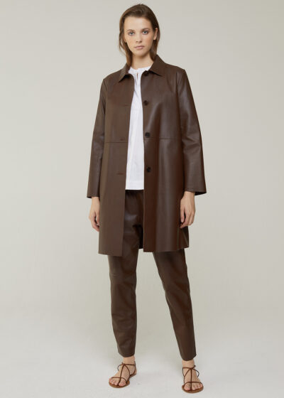 ROSSO 35 - S6034AN - Real Leather Dust Coat - 001