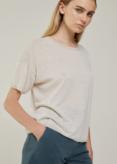 ROSSO 35 - S6046MG - Linen-cotton fine knit sweater - 001