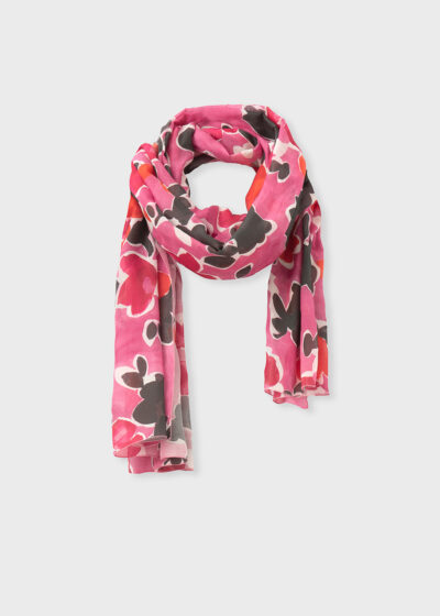 ROSSO 35 - SC641A - Printed Cotton-Silk Voile Scarf - 002