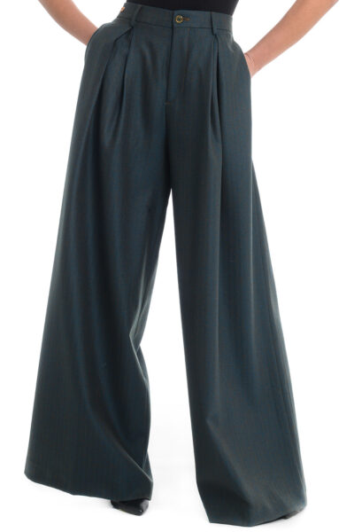 BERWICH WOMAN - 3102-ab1340x - Trousers with one pleat and extra-wide leg - 001
