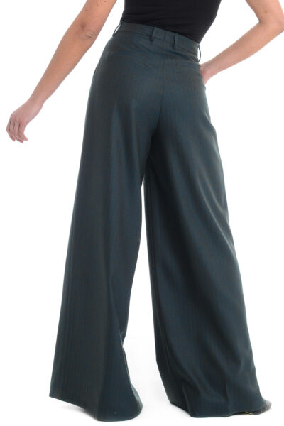 BERWICH WOMAN - 3102-vb188d - Trousers with one pleat and extra-wide leg - 002