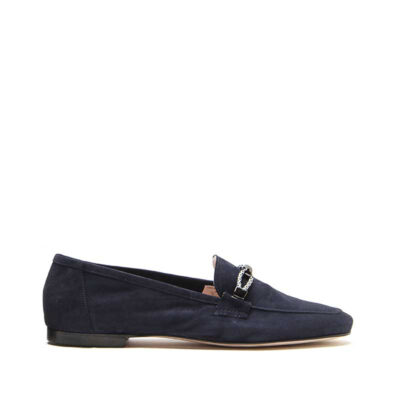 MICHELE LOPRIORE - Cristal - Suede loafer with buckle - 001
