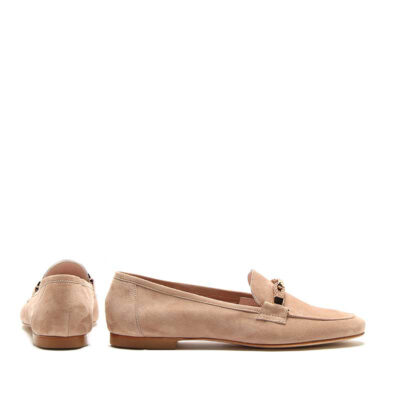 MICHELE LOPRIORE - Cristal - Suede loafer with buckle - 002