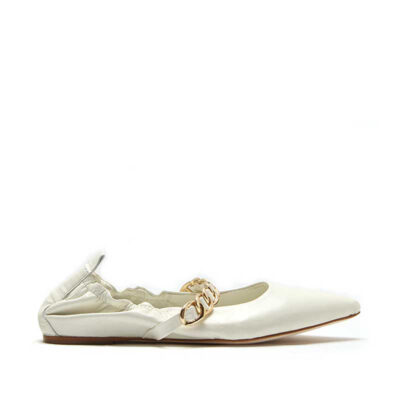 MICHELE LOPRIORE - Paola - Pointy ballerina with golden chain - 001