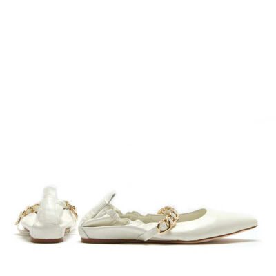 MICHELE LOPRIORE - Paola - Pointy ballerina with golden chain - 002