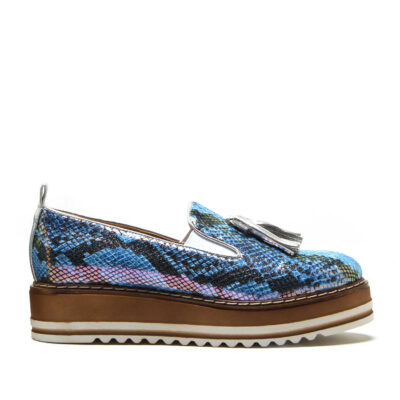 MICHELE LOPRIORE - Cassidy - Suede sneaker with tassels and high-crepe rubber sole - 002