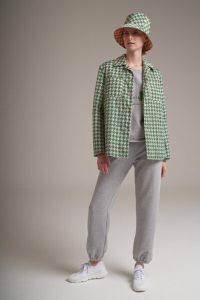 MANZONI 24 WOMAN - 22PM303 - Quilted cashmere padded printed nylon shirt - 001