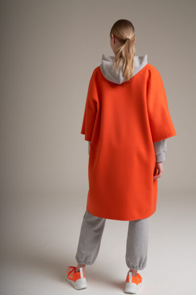 MANZONI 24 WOMAN - 22PM305 - Double face Loro Piana coat with blanket stitches - 002