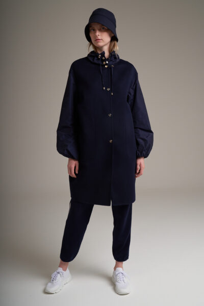 MANZONI 24 WOMAN - 22PM308 - Double face Loro Piana coat with taffetà collar and sleeves - 001