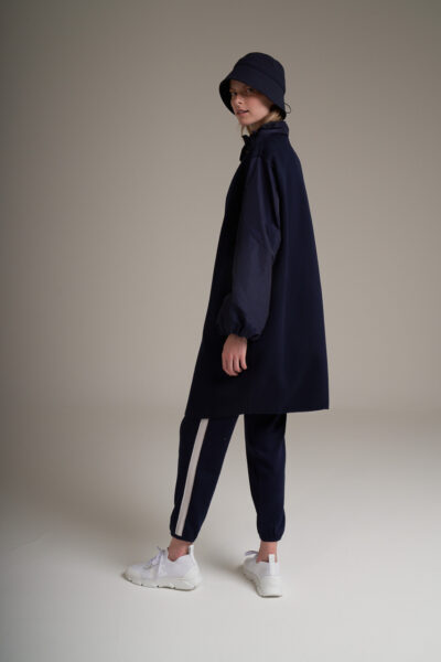 MANZONI 24 WOMAN - 22PM308 - Double face Loro Piana coat with taffetà collar and sleeves - 002