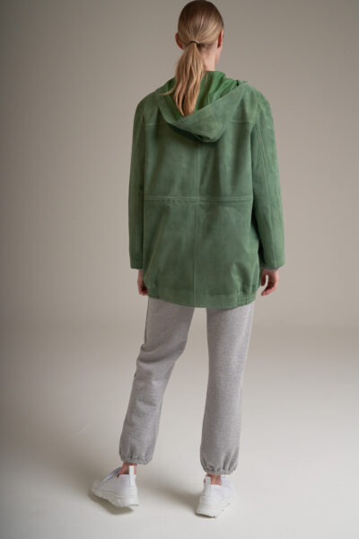 MANZONI 24 WOMAN - 22PM326 - Suede jacket with hood - 002