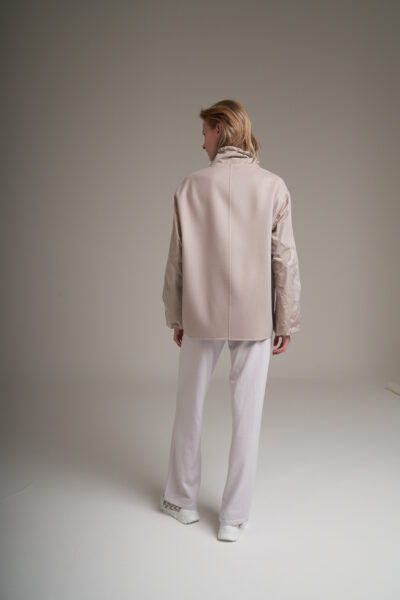 MANZONI 24 WOMAN - 22PM328 - Double face Loro Piana jacket with taffetà collar and sleeves - 001