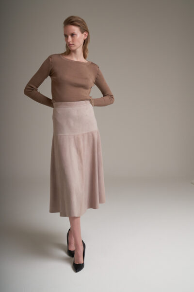 MANZONI 24 WOMAN - 22PM338 - Long suede skirt - 001