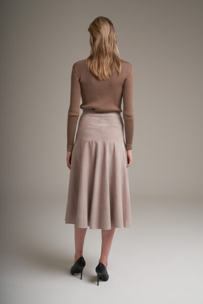 MANZONI 24 WOMAN - 22PM338 - Long suede skirt - 002